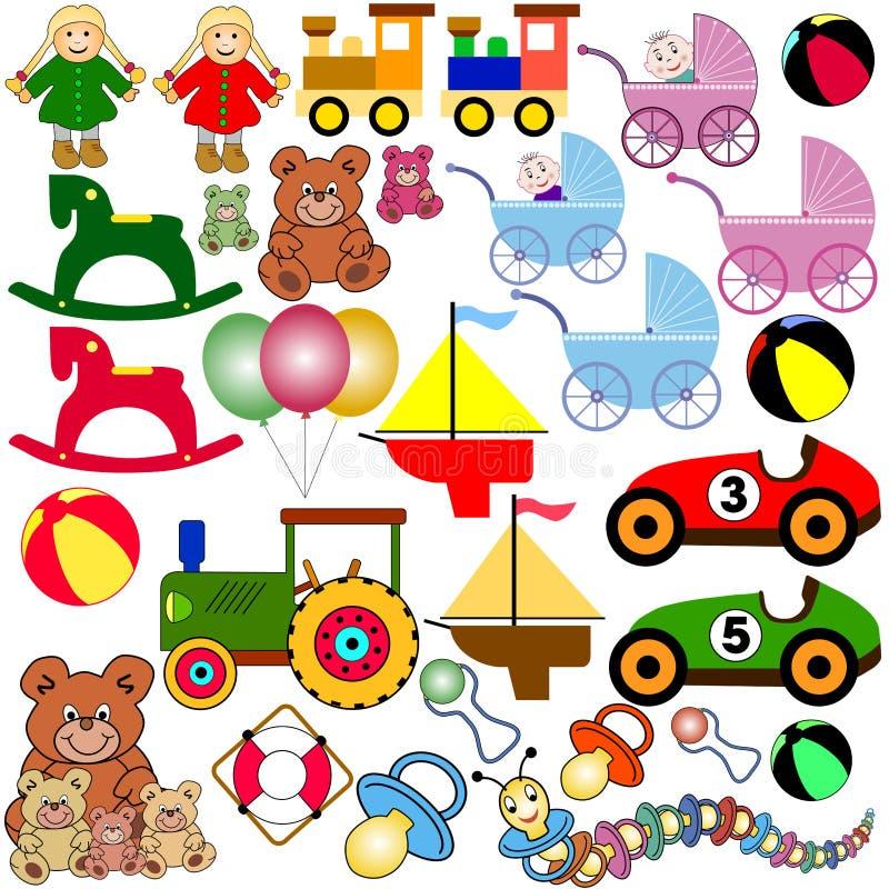 玩具 向量例证