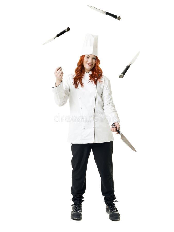 玩杂耍的主厨 库存图片