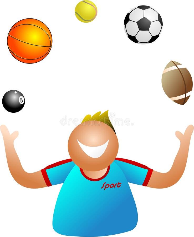 玩杂耍的体育运动 库存例证