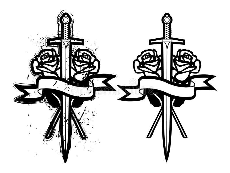 玫瑰剑 库存例证