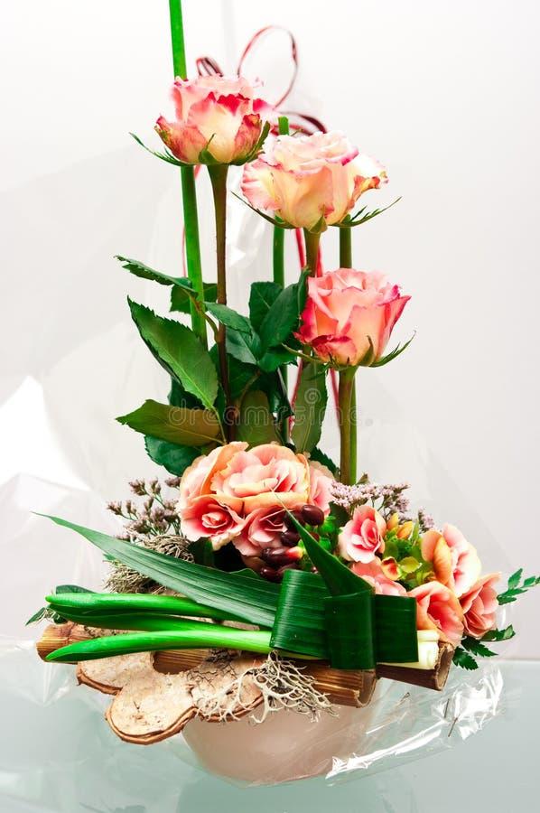 玫瑰卖花人构成 库存图片