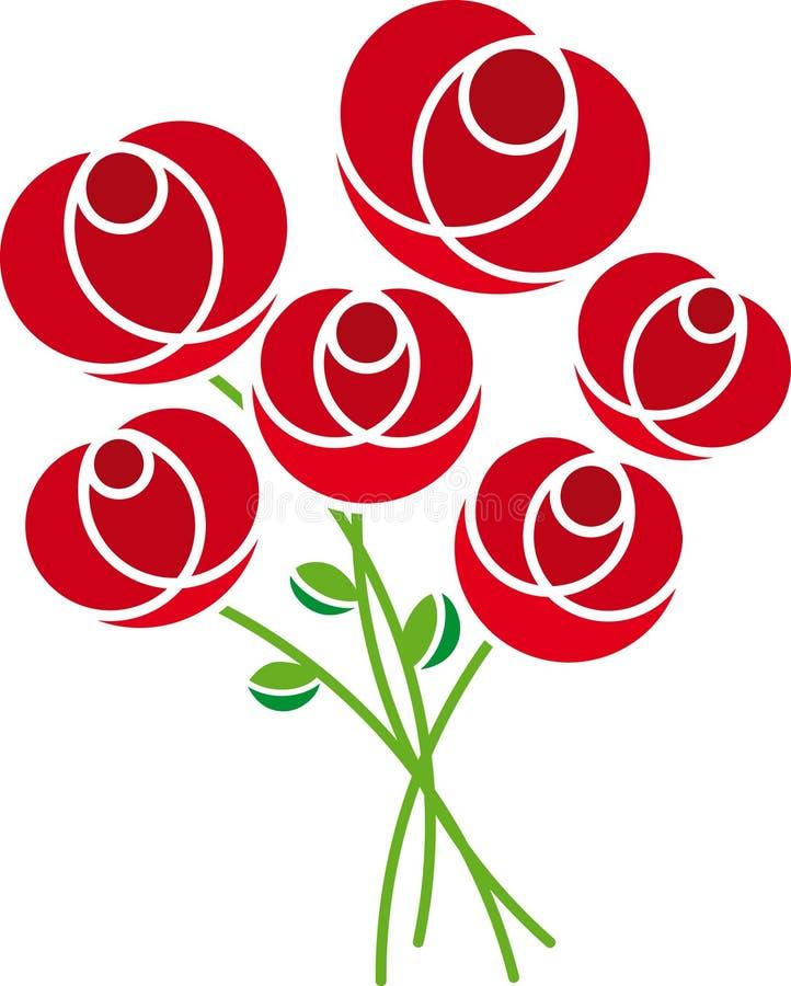 玫瑰向量 库存例证