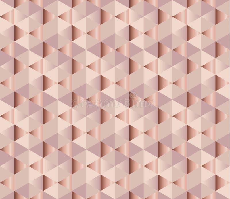 玫瑰色嫩典雅的抽象反复性的主题 苍白颜色femin 皇族释放例证