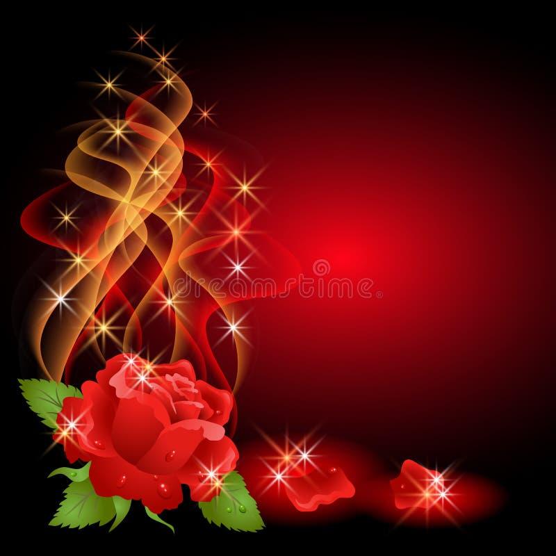 玫瑰色星形 向量例证