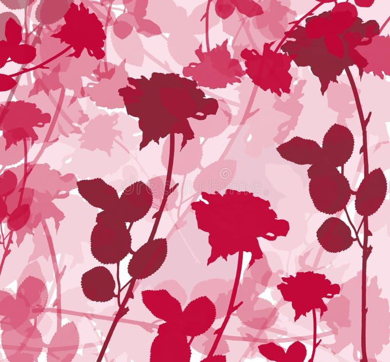 玫瑰色的背景 向量例证