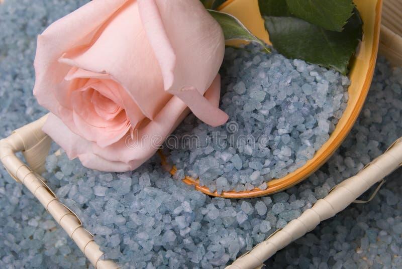 玫瑰色盐 图库摄影