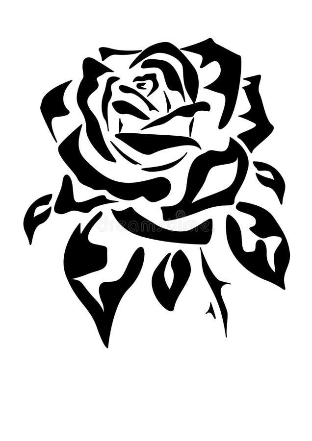 玫瑰色纹身花刺 向量例证