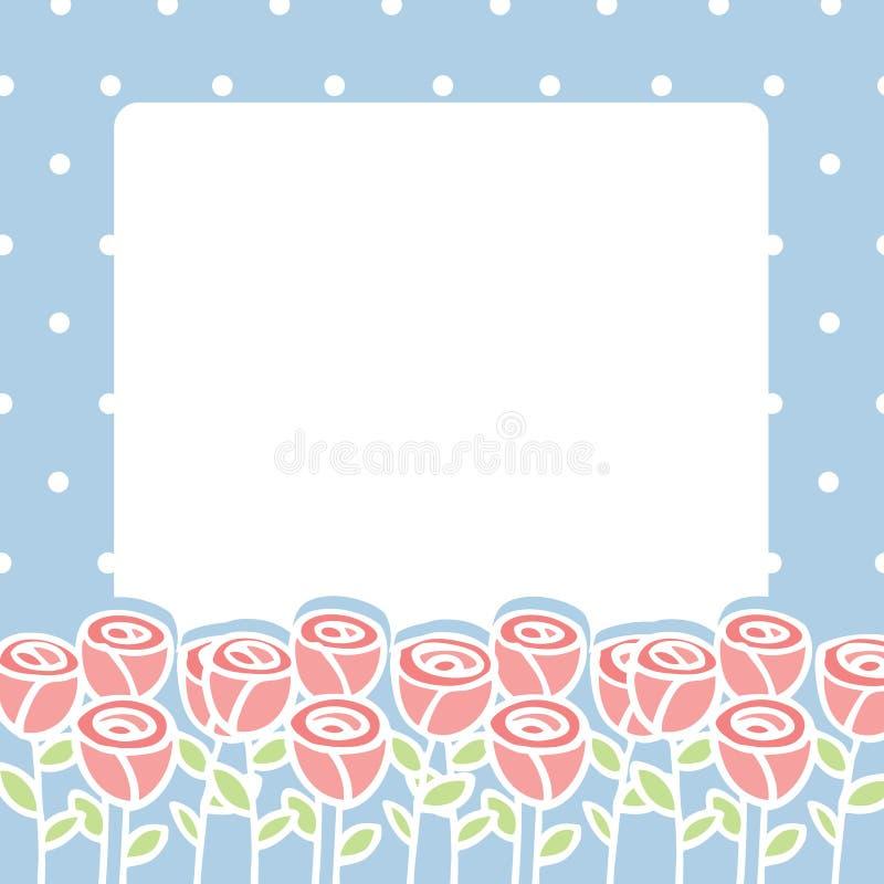 Download 玫瑰色花框架在空的空间背景的 向量例证. 插画 包括有 开花, 本质, 背包, 动画片, 角落, 花卉, 国界的 - 30330874
