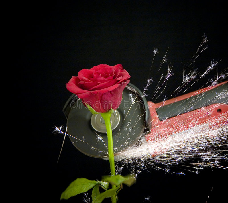 玫瑰色钢 图库摄影