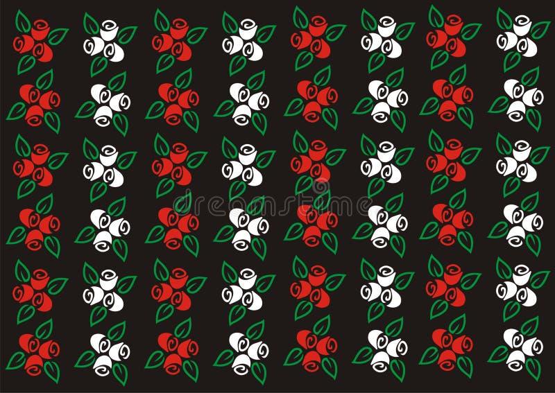 玫瑰花墙纸背景 免版税库存照片