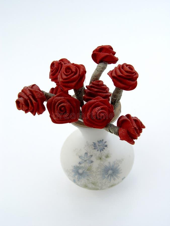 玫瑰花瓶 库存图片