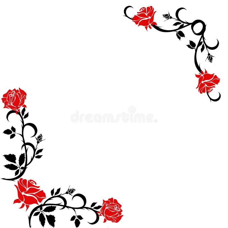 玫瑰角落背景 免版税库存图片