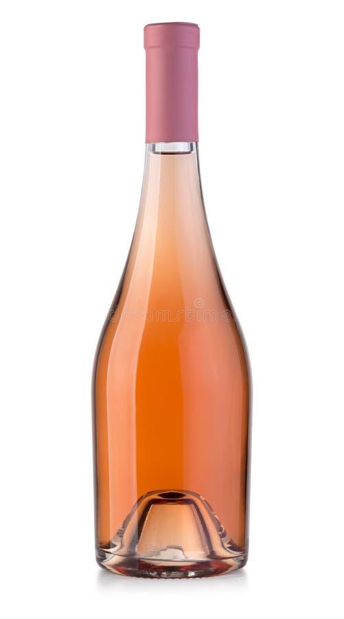 玫瑰酒红色瓶 免版税库存照片