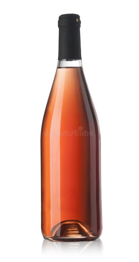 玫瑰酒红色瓶 库存图片