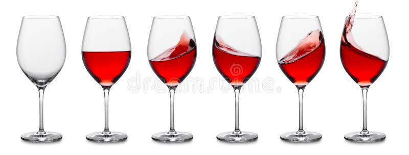 玫瑰酒红色飞溅收集 免版税图库摄影