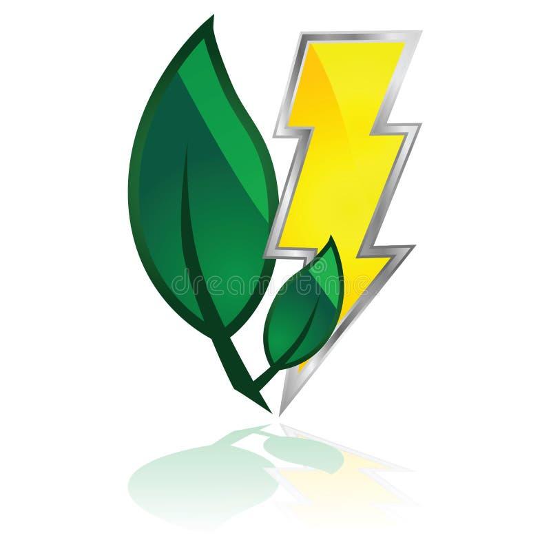 环保电力 向量例证