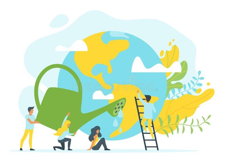 环境保护的概念 库存例证