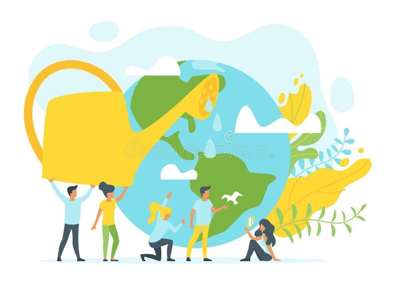 环境保护的概念 皇族释放例证