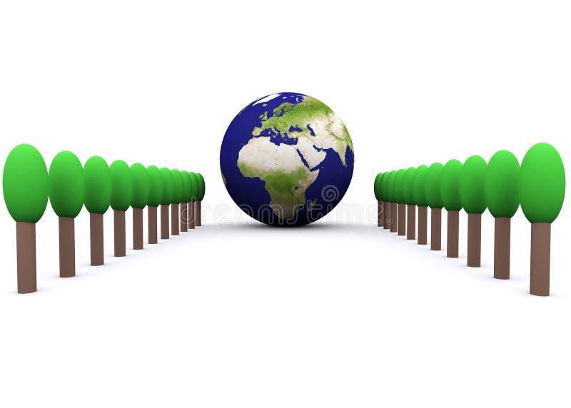 环境全球的欧洲 皇族释放例证
