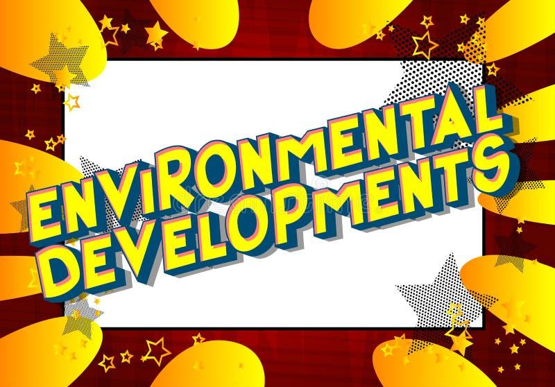环境发展-漫画样式词 向量例证