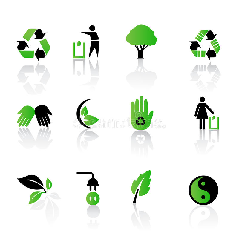 环境图标回收 向量例证