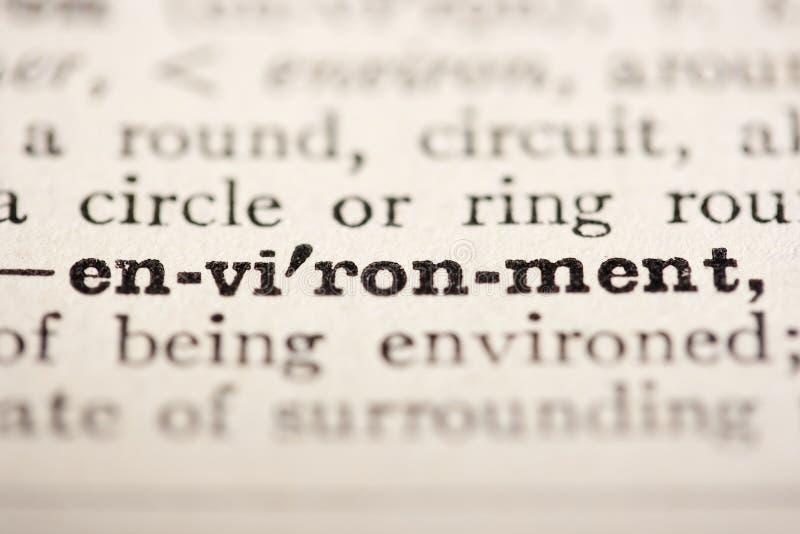 环境字 免版税库存图片