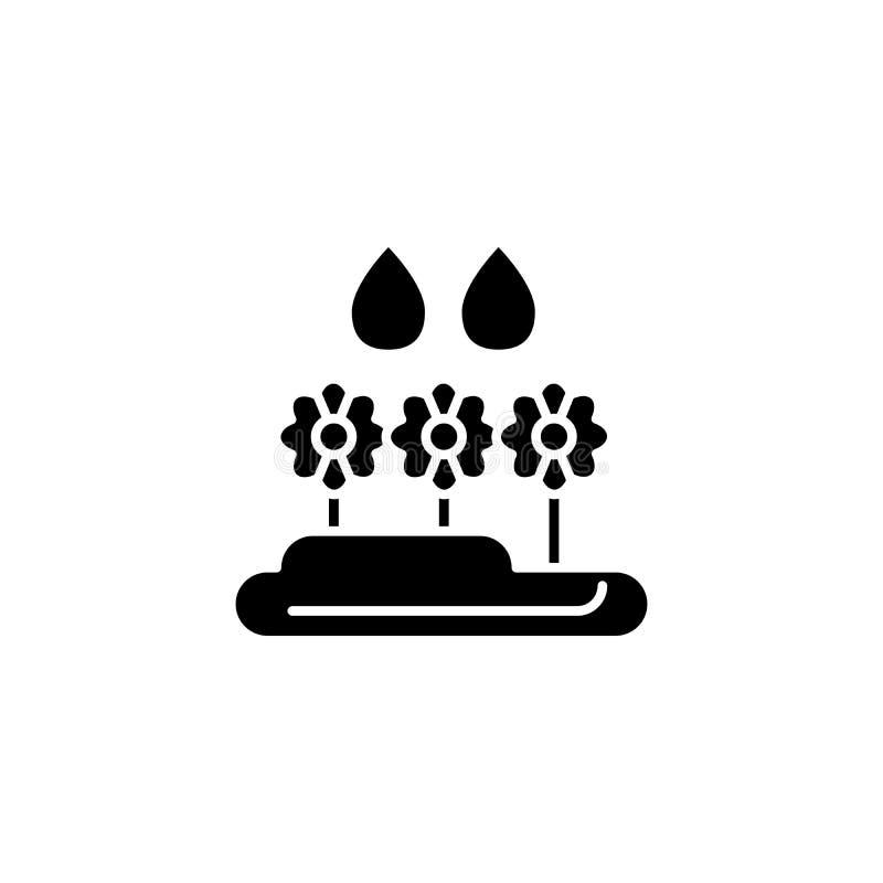 环境影响黑色象概念 环境影响平的传染媒介标志,标志,例证 向量例证