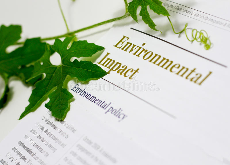 环境影响 免版税库存图片