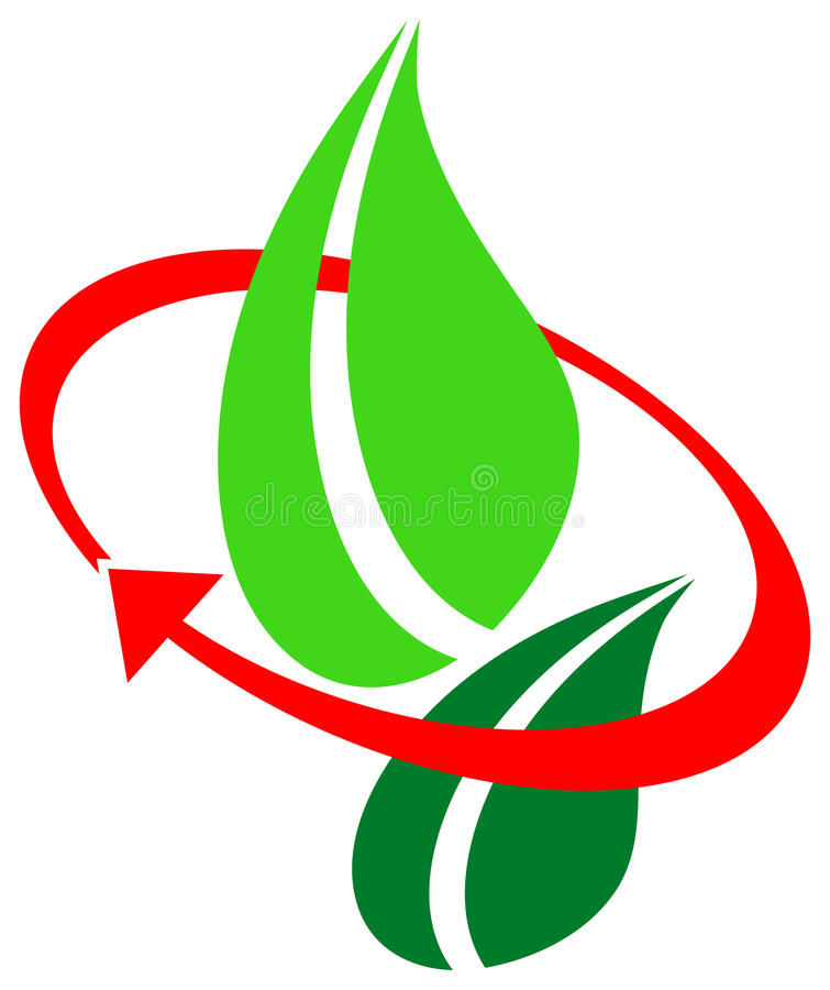 环境徽标 向量例证