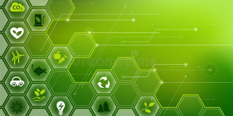 环境挑战/能承受的技术设计 皇族释放例证