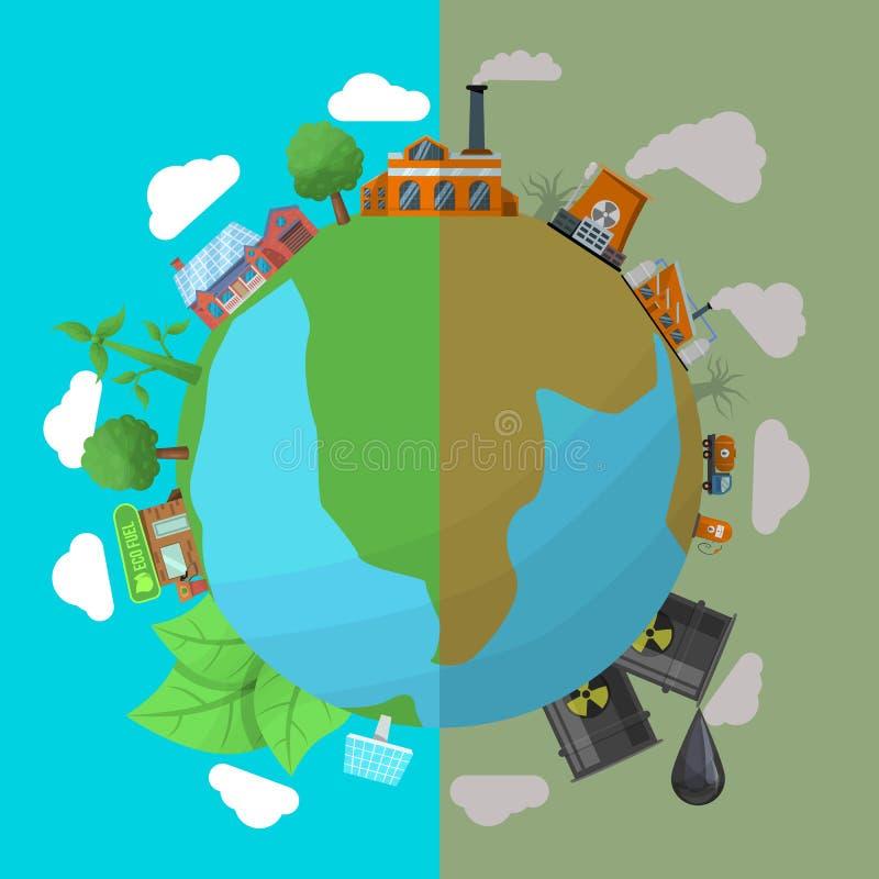 环境污染海报 皇族释放例证