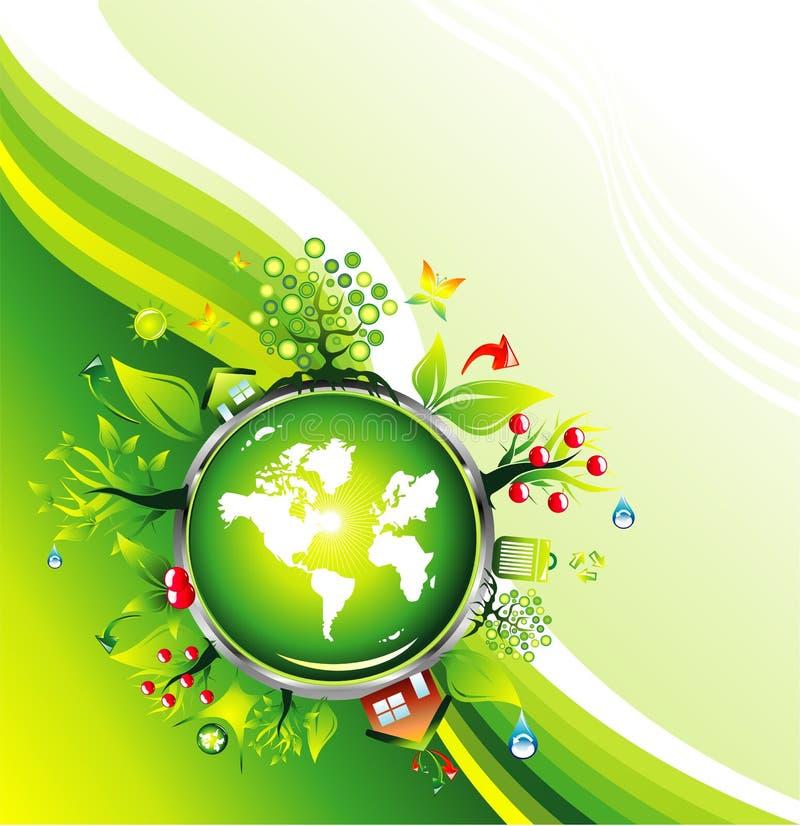 环境的名片 库存例证