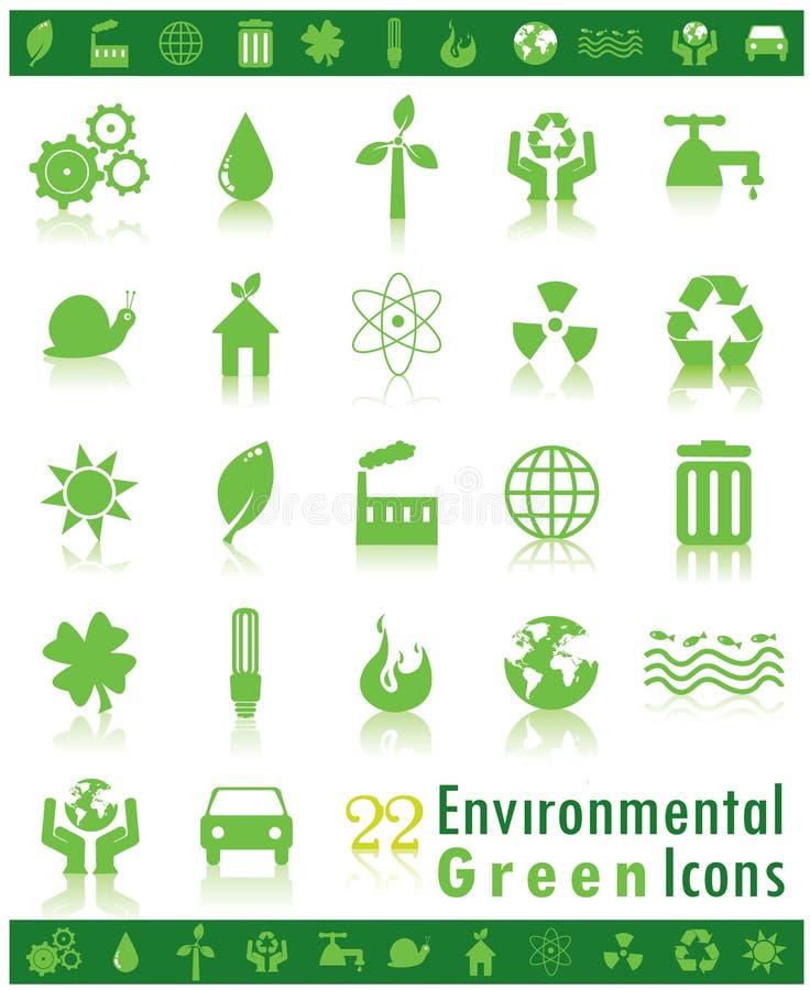 环境绿色图标 皇族释放例证