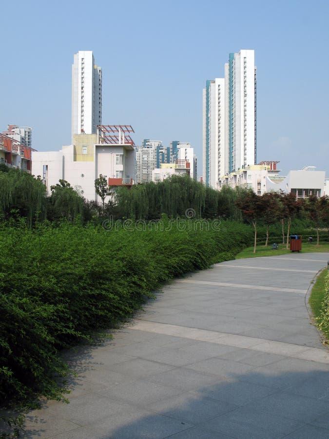环境绿色高层 库存图片