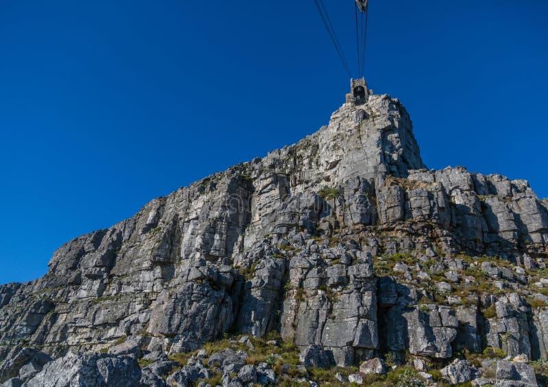 环境美化在桌山自然保护顶部在开普敦在南非 库存照片