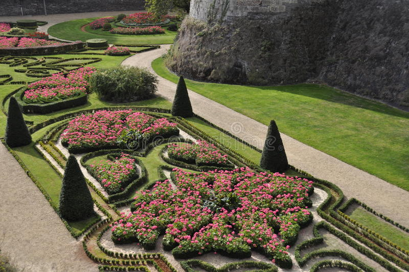 环境美化的庭院 库存图片