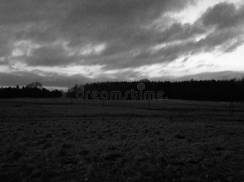 环境美化,黑色白色,自然,云彩 免版税图库摄影