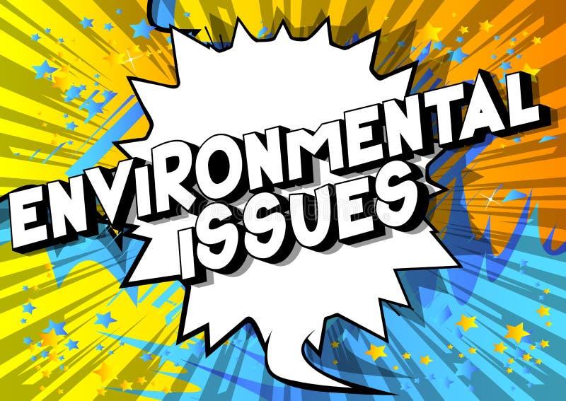 环境问题-漫画样式词 向量例证