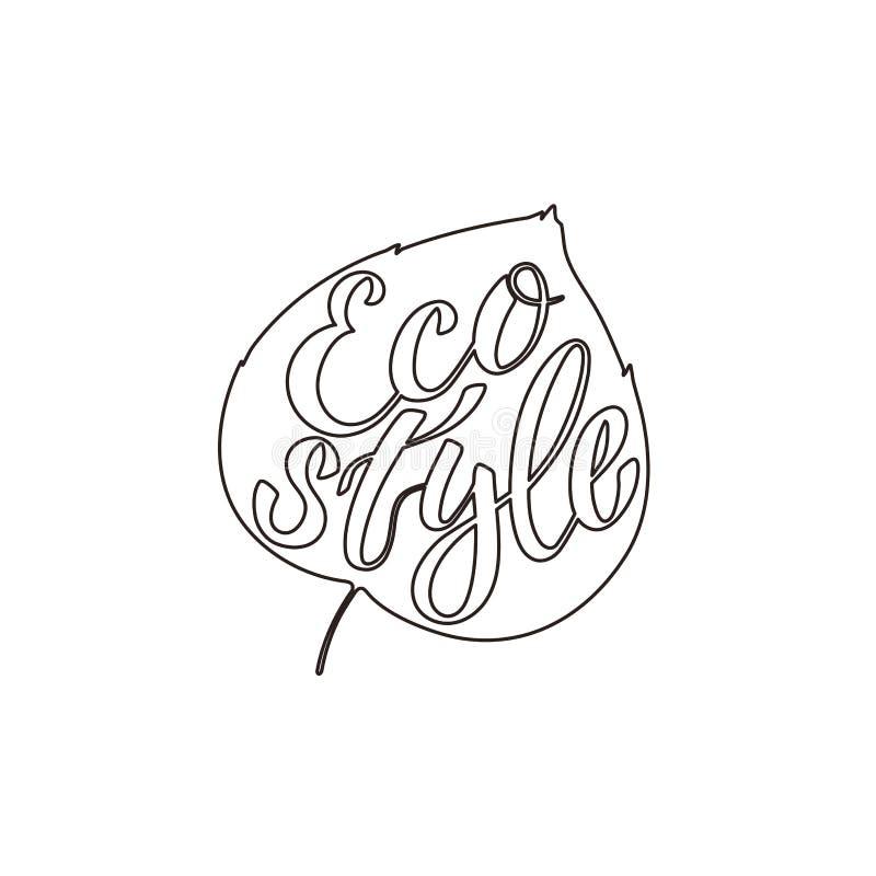 环境题材的- Eco样式传染媒介例证 向量例证