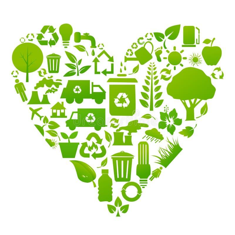 环境/回收象 向量例证