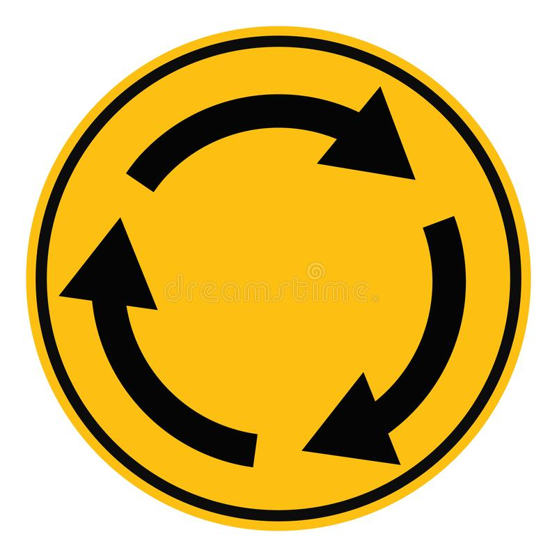 环形交通枢纽交叉路在白色背景的公路交通 平的样式 您的网站设计的环形交通枢纽标志,商标,应用程序,UI 向量例证