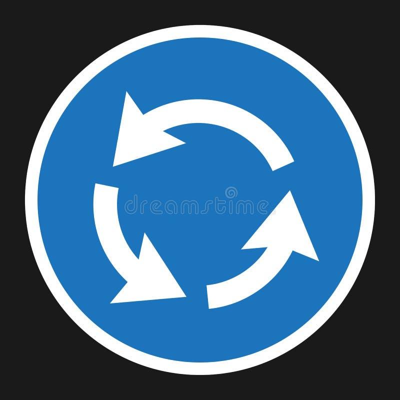 环形交通枢纽循环标志平的象 库存例证