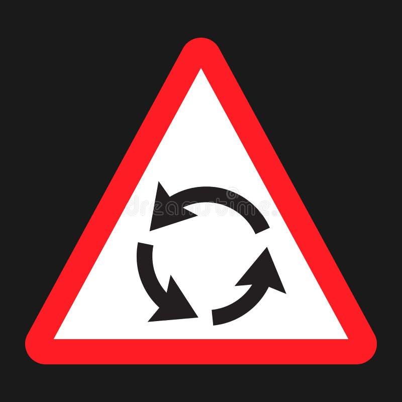 环形交通枢纽标志平的象、交通和路标 库存例证