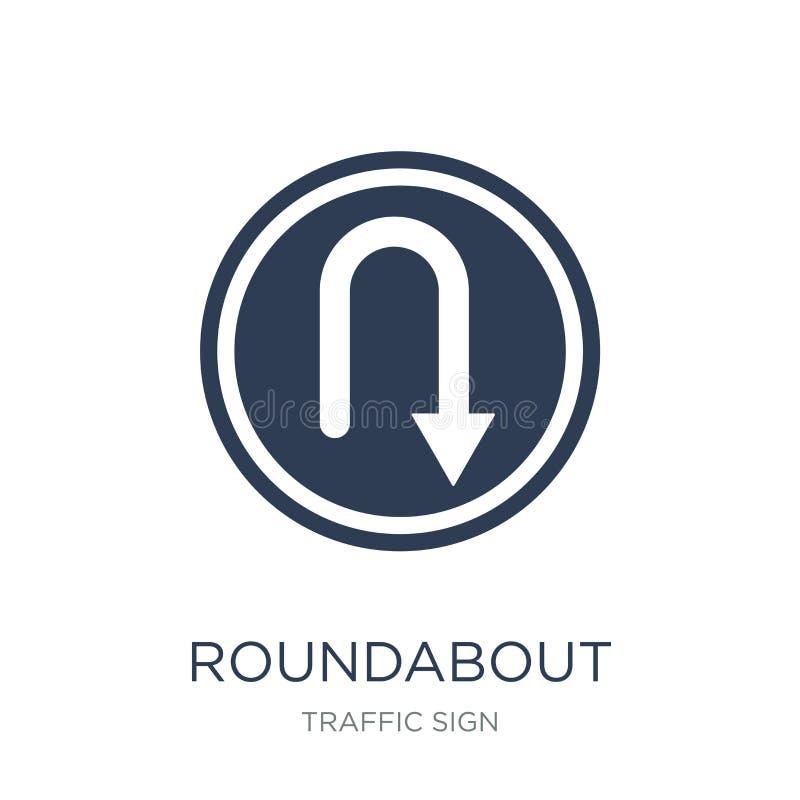 环形交通枢纽标志象 时髦平的传染媒介环形交通枢纽标志象  库存例证