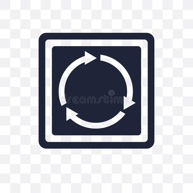 环形交通枢纽标志透明象 环形交通枢纽标志标志设计 向量例证