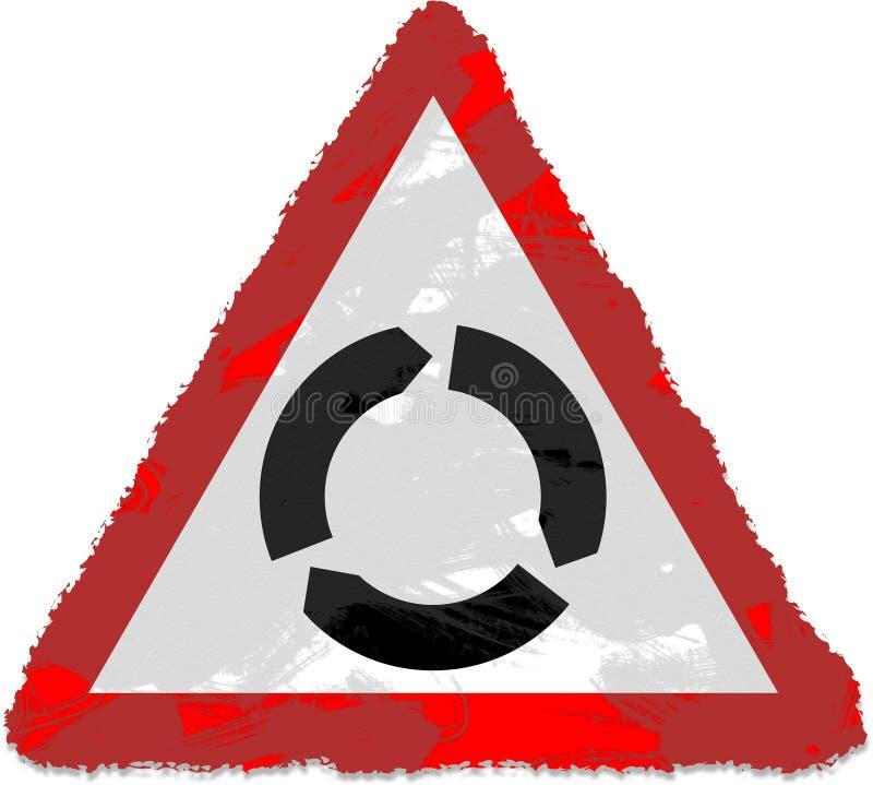 环形交通枢纽符号 皇族释放例证