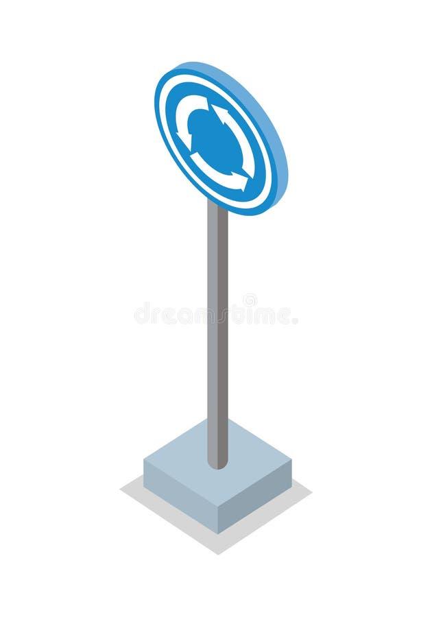 环形交通枢纽路标传染媒介例证 库存例证