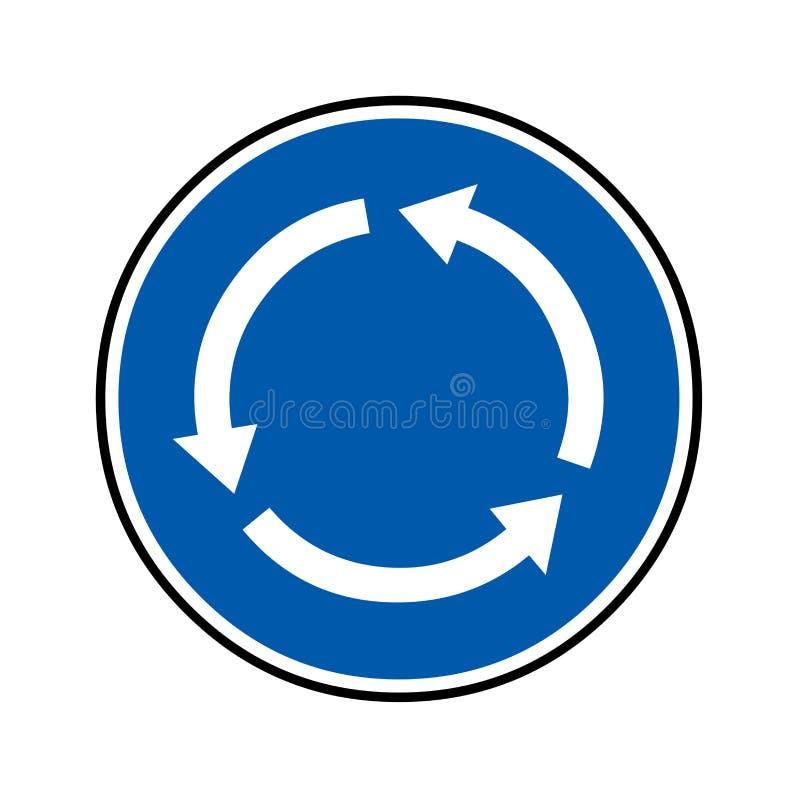 环形交通枢纽路标 向量例证