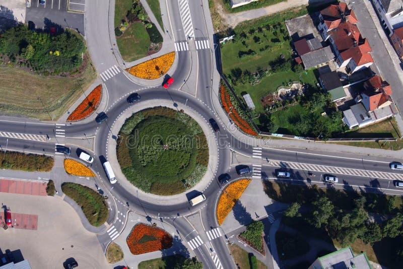 环形交通枢纽 库存图片