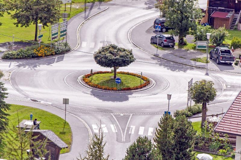 环形交通枢纽 图库摄影